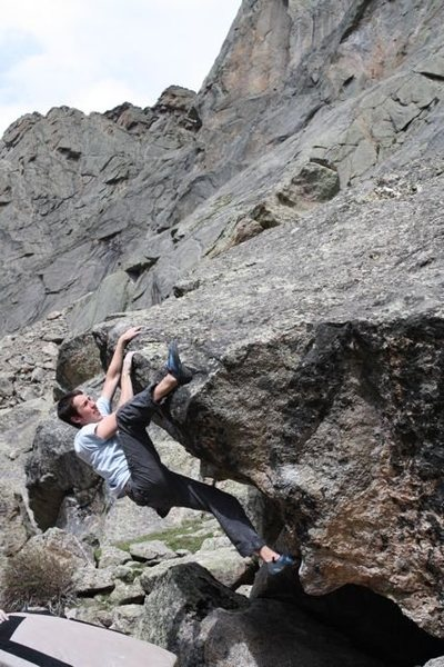 John Gallagher working the deceptively burly lip crux of French Kiss.