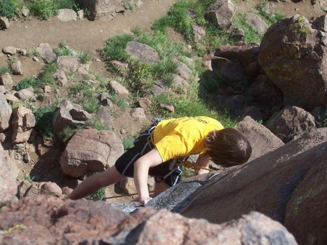 Rock Climbing Photo: Climbing like i'm HIV positive