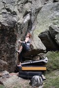 Rock Climbing Photo: Mike Gallagher two seconds away from sticking the ...