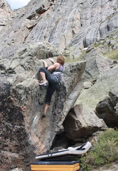 Mike Gallagher on the fun and asthetic climbing on the upper section of the problem.