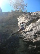 """Rock Climbing Photo: Dave Rone holding it to the very end on """"Urin..."""