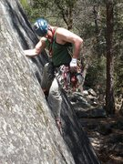 Rock Climbing Photo: Trying to get a piece in