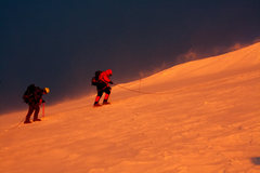 Rock Climbing Photo: Climbers at about 13,500 feet on the Ingraham Glac...