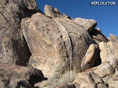 """Rock Climbing Photo: """"Replikator"""". Photo by Blitzo."""