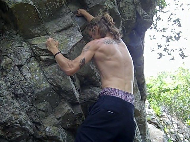 Rock Climbing Photo: Messin around on monkey man