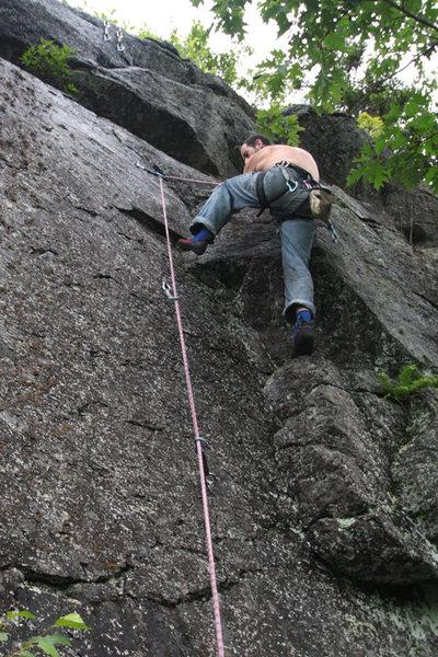 Rock Climbing Photo: jakob on a very wet bag end