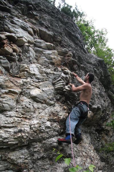 Rock Climbing Photo: quartz course... good fun