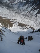 Rock Climbing Photo: Steep section on the North Col