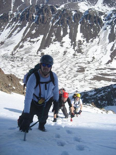 Rock Climbing Photo: Near the summit ridge