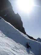 Rock Climbing Photo: Difficult traverse to the final summit climb