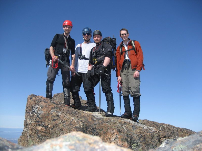 Brian, me, Tony, and Tim on the West Summit.