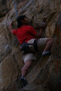 Rock Climbing Photo: One of my first action shots