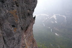 "Rock Climbing Photo: the airy ""crux"" super fun"