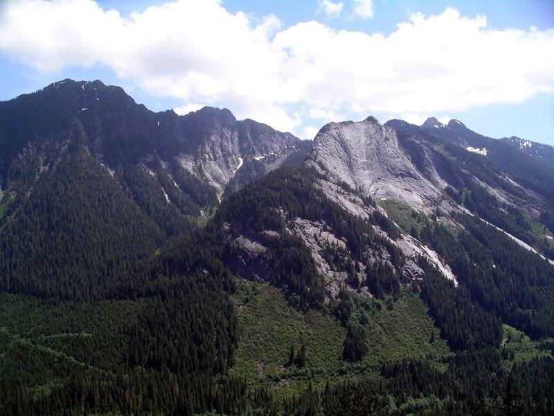 Voodoo Peak and Exfoliation Dome.
