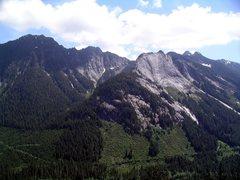 Rock Climbing Photo: Voodoo Peak and Exfoliation Dome.