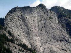 Rock Climbing Photo: Close up of Exfoliation Dome from Three O'Clock Bu...