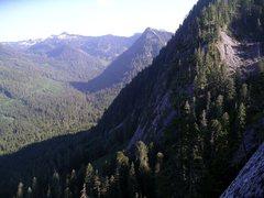 Rock Climbing Photo: Comb Buttress from Three O'Clock Rock.