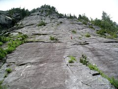 Rock Climbing Photo: Looking up the North Buttress of Three O'Clock Roc...