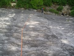 Rock Climbing Photo: Looking down Under the Bored Walk from the interme...