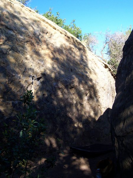 Rock Climbing Photo: Left/center of the back side of the Ant Boulder.