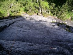 Rock Climbing Photo: Looking down the first pitch of The Kone