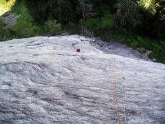 Rock Climbing Photo: Climbing the third pitch of The Kone