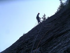 Rock Climbing Photo: Anchors at the top of The Kone's fourth pitch