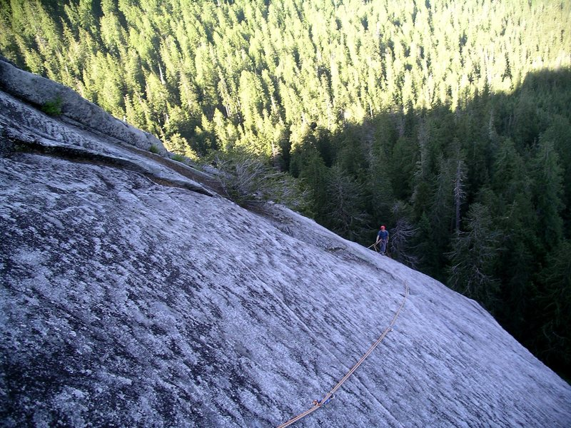 Looking down the last pitch (5th) of The Kone