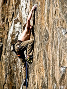Rock Climbing Photo: Reachin' for some goodness on the Double Stout's l...