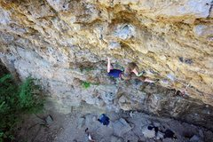 Rock Climbing Photo: Ted Kryzer getting into the knee-bar. June 30, 201...