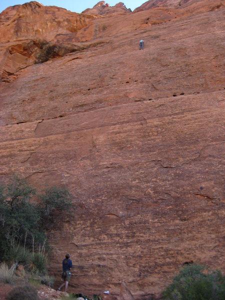 Rock Climbing Photo: Rain Dance, 5.10a