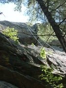 Rock Climbing Photo: The top of the line is in this dihedral.