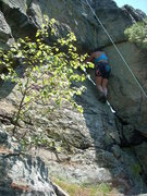 """Rock Climbing Photo: The dihedral with the """"window""""."""