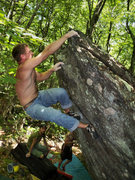 "Rock Climbing Photo: Kayle on ""Please Bleed"" (v-5)Rock House ..."