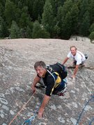 Rock Climbing Photo: Chuck Grossman and I following one of the routes. ...