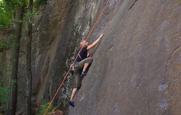 Rock Climbing Photo: Starting Flakey