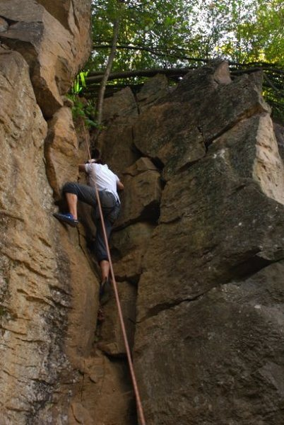 Rock Climbing Photo: crux?   HA!