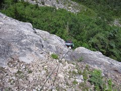 Rock Climbing Photo: Top of first pitch.