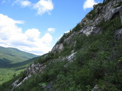 Rock Climbing Photo: Lower half of the northern ridge and the long ice ...