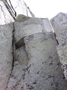 Rock Climbing Photo: Top half of the pillar. The way I went up was the ...