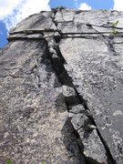 Rock Climbing Photo: Left of the pillar on the highest wall is this 80+...