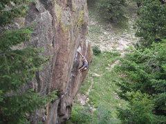 Rock Climbing Photo: Chalking up, 2009.