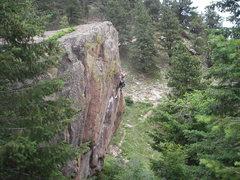 Rock Climbing Photo: Running it out, 2009.