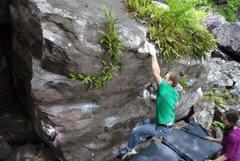 Rock Climbing Photo: The throw