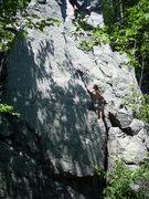 "Rock Climbing Photo: Vince contemplating ""The Bone""."