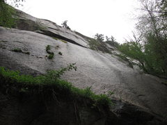 Rock Climbing Photo: Looking up the first pitch of the route.