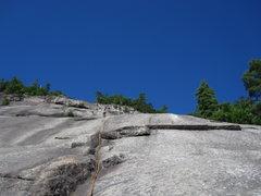 Rock Climbing Photo: Matt Leading Beginner's Route (5.5R)