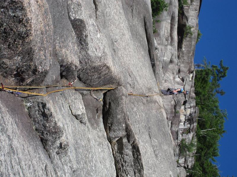 Matt Leading Beginner's Route (5.5R)