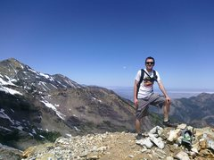 Rock Climbing Photo: On the top of Sundial Peak (South Summit 10,320ft)