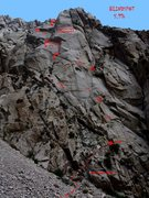 Rock Climbing Photo: Blindspot topo.  Please see secondary topo for pit...
